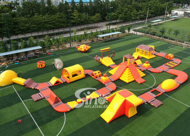 42x25m Custom Deisgn Giant Inflatable Floating Water Park With Silk Printing