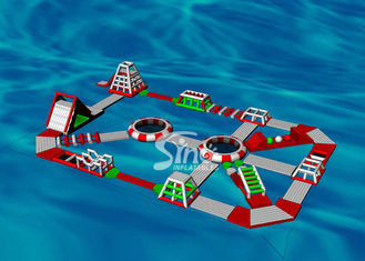 30x20m Custom Design Adults Giant Inflatable Water Park For Floating On Sea Beach Or Open Water