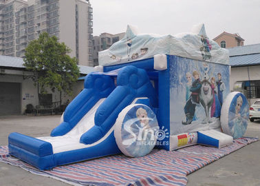 China Outdoor frozen carriage inflatable bouncy castles with slide for children supplier