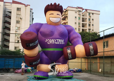 China Outdoor 16' high giant anytime fitness inflatable muscle man for fitness clubs or GYM outdoor promotion supplier
