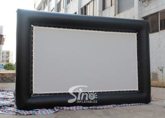 China Custom made giant advertising inflatable movie screen with back frame for outdoor use supplier