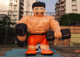 China Custom made anytime fitness giant inflatable muscle man for gym outdoor promotion supplier