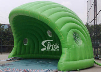 China 30 x 21 ft half moon display promotion green inflatable tent made of best pvc tarpaulin supplier