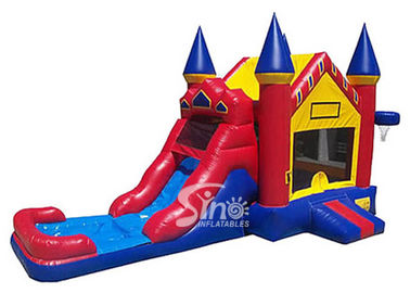 Outdoor ancient castle inflatable water bounce house with pool for kids summer partiesOutdoor ancient castle inflatable