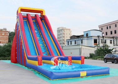 China 10m high giant inflatable water slide for adults made of 0.55mm pvc tarpaulin material supplier