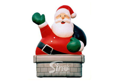 China 5m high outdoor giant funny inflatable Santa Claus for Christmas festival decoration supplier