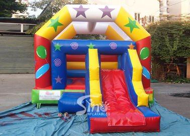 China Commercial grade inflatable bouncy castle with slide for outdoor kids party supplier