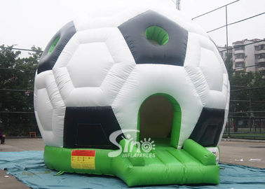 China Outdoor Kids Party Time Football Inflatable Bouncy Castle with 0.55mm pvc tarpaulin supplier