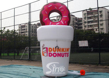 China 5m High Custom Shape Dunkin Donuts Advertising Inflatable Coffee Cup For Dessert Shop Promotion supplier