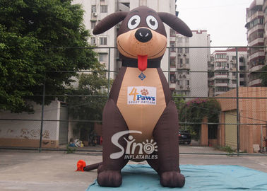 China 5 meters high lovely large outdoor puppy inflatable dog for advertising decoration supplier