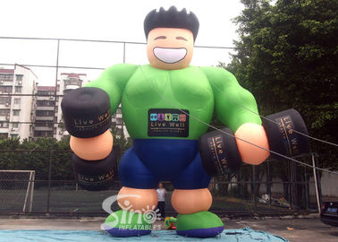 25' High Big Advertising Guy Inflatable Muscle Man For GYM Outdoor Promotion