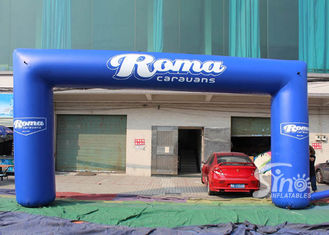 Full digital printing outdoor blue Roma advertising inflatable arch for promotion activities