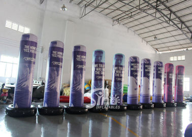 3 Mts High Custom Design Airtight Advertising Inflatable Column Completely Digital Printed Made Of Best Material