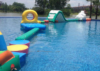 Outdoor or indoor boot camp inflatable water obstacle course fit for water park energy challenge activities