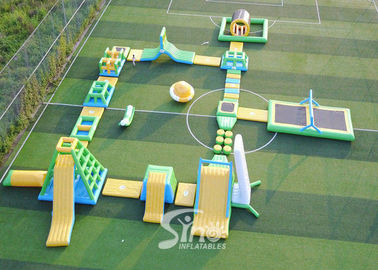 China 30x28m giant inflatable floating water island for summer water parties use supplier