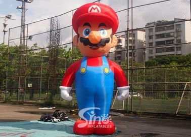 China 5m High Advertising Big Inflatable Super Mario For Promotion Activities From Guangzhou Inflatables supplier