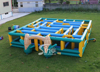 China 12x12m kids N adults giant inflatable corn maze digitally printed for sports events supplier