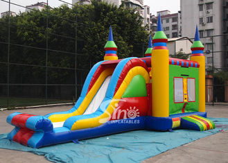China 5in1 colorful commercial kids inflatable combo game with slide for outdoor from guangzhou inflatables supplier