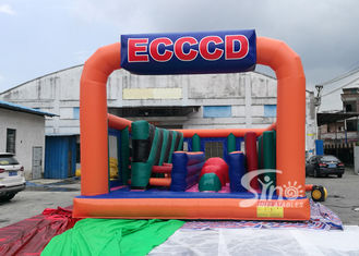 China Giant Fun Adults Jumping Inflatable Obstacle Course For Challenge Run Party supplier