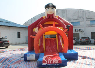 China Outdoor Pirate Inflatable Bounce Slide Combo For Kids Outdoor Party Fun supplier