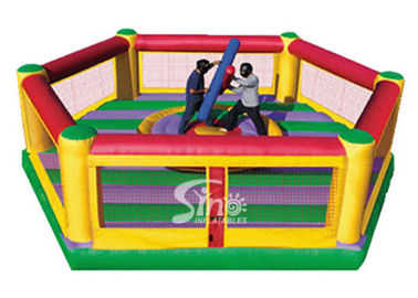 Commercial grade kids N adults interactive inflatable jousting set with sticks from China inflatable wrestling game fact