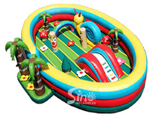 8x6 meters Jungle Theme Kids Inflatable Fun Park with Slide For Indoor Or Outdoor Use