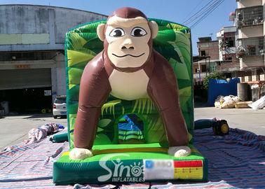 China Giant Jungle Monkey Inflatable Bounce House Obstacle Course For Kids Party Fun supplier