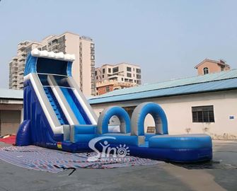 Outdoor Blow Up Commercial Big Kids Inflatable Water Slides For Water Park 0.55mm Pvc Tarpaulin
