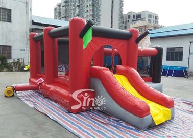 Commercial outdoor kids red combos with slide for amusement park from Sino factory