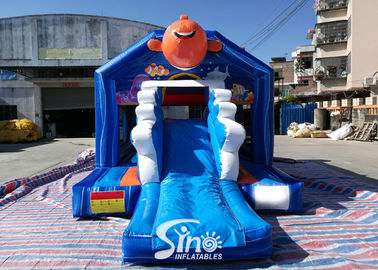 Bouncy Castle With Slide Combo Jumper For Inflatable Games