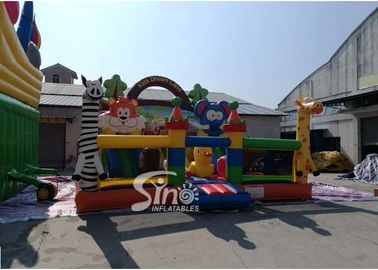 Outdoor Commercial Kids Funny Inflatable Amusement Park In  Playground