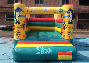 Customize Durable Small Inflatable Bounce Houses in Sea World Theme
