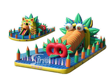 Outdoor kids hippo inflatable playground made of best pvc tarpaulin from guangzhou inflatables