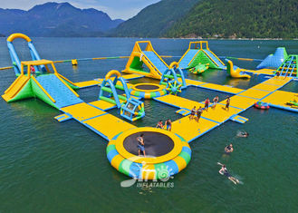 China 63x36m giant floating island inflatable water park for summer entertainment supplier