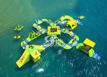 32x24 meters combinated giant inflatable water park for kids N adults in open water area
