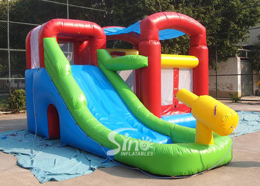 Kids inflatable combo water bounce house with pool N water gun made of best pvc tarpaulin