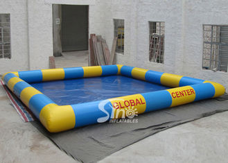 Interphase yellow N blue kids water ball big inflatable swimming pool for open area rental