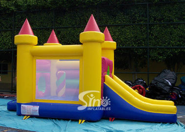 4in1 indoor kids party small bouncy castle made of lead free material from Sino Inflatables