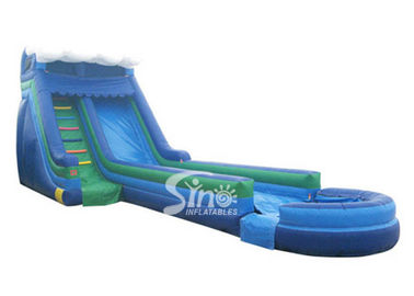 13 mts long outdoor kids parties inflatable wavy water slide for summer water fun
