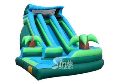 Outdoor commercial kids giant inflatable curve water slide with pool made of best pvc tarpaulin from Sino Inflatables
