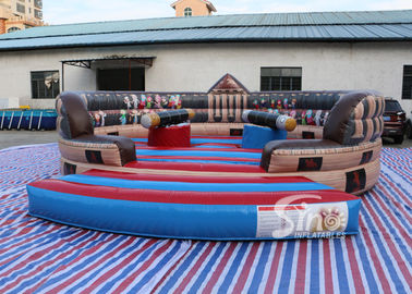 China 6m Dia. kids N adults ancient inflatable gladiator jousting arena with completely digital printing supplier
