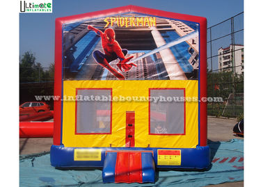 China Outdoor Spiderman Module Inflatable Bounce Houses For Birthday Party supplier