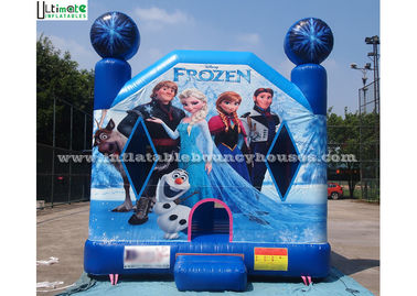 China Commercial Grade Kids Frozen Inflatable Bounce Houses With Obstacles For Parties supplier