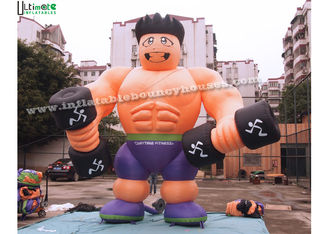 China Anytime Fitness Inflatable Muscle Man Advertising Products For Outdoor Promotions supplier