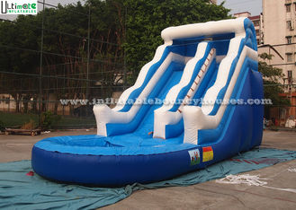China 18 FT High Wavy Commercial Inflatable Water Slides For Kids With Sea World Theme supplier