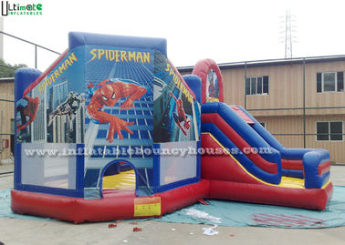 China Outdoor Spiderman Inflatable Jumping Castles / Kids Inflatable Bouncy Castle supplier