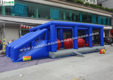 China Blue Hit And Run Inflatable Games , Bouncy Bridge Inflatable Sports Games supplier