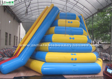 China Icetower Water Park Inflatable Water Toys With Slide By Airtight Technique supplier