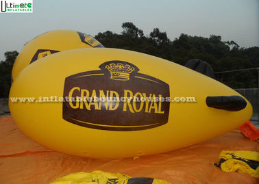China Yellow Popular Inflatable Helium Zeppelin Made Of 0.16mm PVC For Promotion supplier