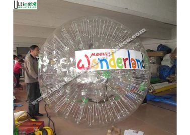 China Outdoor TPU Inflatable Zorb Balls Roll Inside Inflatable Ball For Entertainment supplier